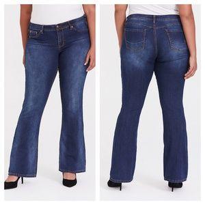 Torrid Source Of Wisdom Slim Bootcut Jeans SHORT